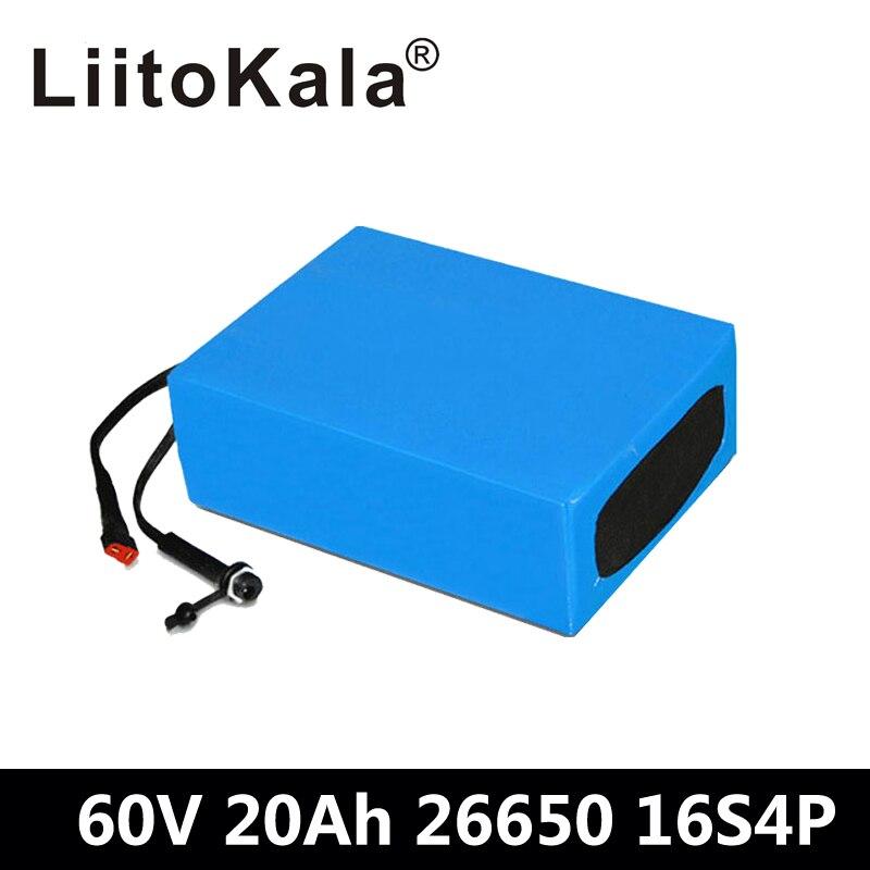 LiitoKala 60 V 20AH imperméable AU Lithium ion eBike batterie 60 V 1000 W 1800 W Scooter électrique batterie US EU AU pas de taxe