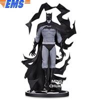 Статуя «Лига Справедливости» бюст черно белые Бэтмена, Длина Портрет ПВХ, движущаяся фигурка, Коллекционная модель, игрушка 23 см коробка D848