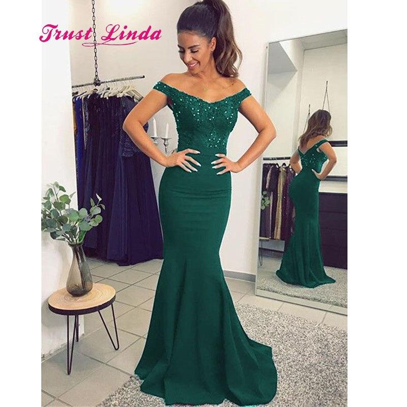 19706323a1c0 Green Bridesmaid Dress Cap Sleeves Boat Neck Floor Length Mermaid Women  Wedding Party Dress Vestidos De Madrinha