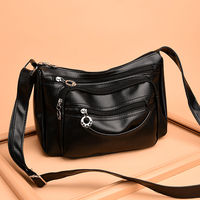 2018 New Women Leather Shoulder Bags Fashion Luxury Women Pu Handbag Brand Solid Crossbody Bags For Women Messenger Bag