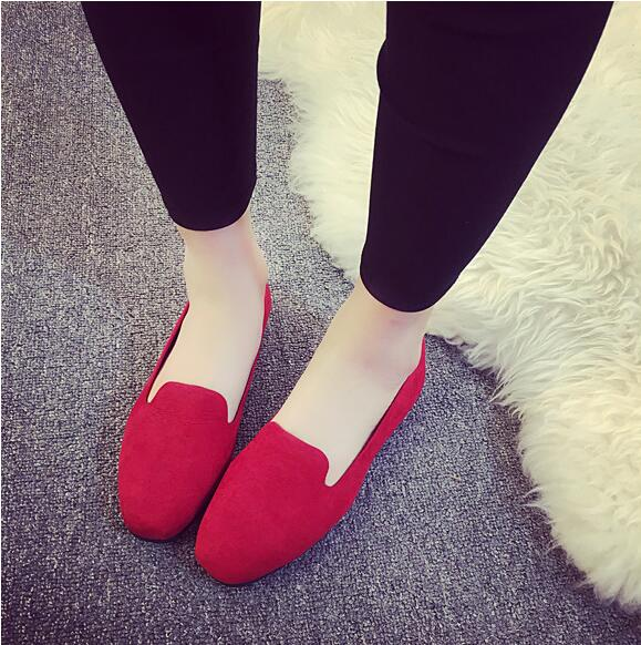 Women Flats Candy Color Woman Loafers Spring Autumn Flat Shoes Women Zapatos Mujer Summer Shoes Flat shoes with small Scrub free shipping candy color women garden shoes breathable women beach shoes hsa21