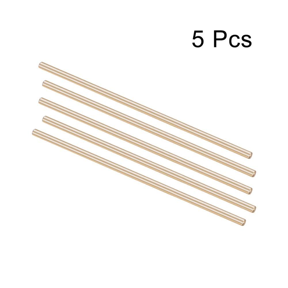 Uxcell 5Pcs Brass Shaft Round Rod Length 80mm90mm Diameter 3mm for DIY Toy RC Car Helicopter Model Accessories Durable
