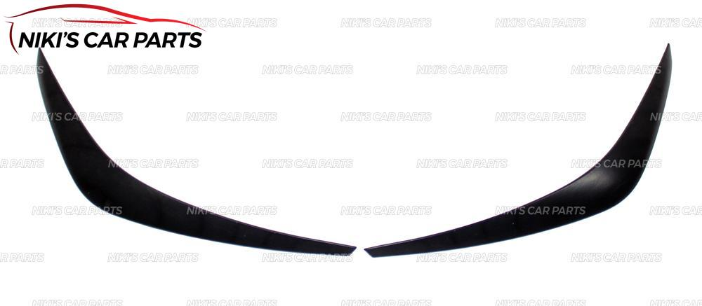Image 3 - Eyebrows on headlights for  Hyundai Solaris 2017  model B broad ABS plastic cilia eyelash molding decoration car styling tuning-in Chromium Styling from Automobiles & Motorcycles