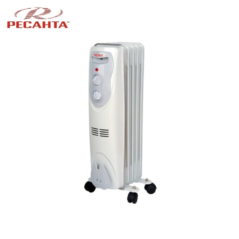 Oil radiator RESANTA OM-5N Air heating Oil heater Space heating Oil filled radiator Sectional radiator цены