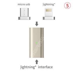 GARAS 대한 번개 유형 C/마이크로 자기 어댑터 아이폰/안드로이드 1 인치 데이터 케이블 컨버터 어댑터 LightningTo 마이크로 USB