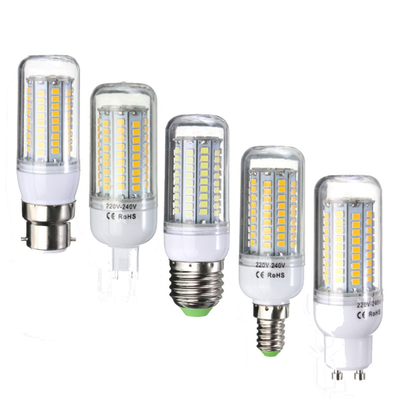 Home Energy Saving 6W 2835 SMD 102 LED Lamp Bulb E27/E14/G9/B22/GU10 700LM Corn LED Light Bulb 220V Chandelier Lighting
