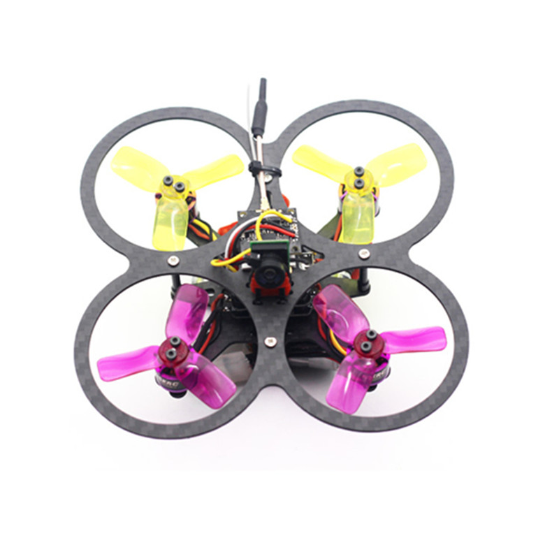 New Arrival HSK90 90mm Micro Brushless RC Drone FPV Racing w/ F3 Built In OSD 15A BLHeli_S 600TVL Camera BNF Multi Rotor DIY цена 2017