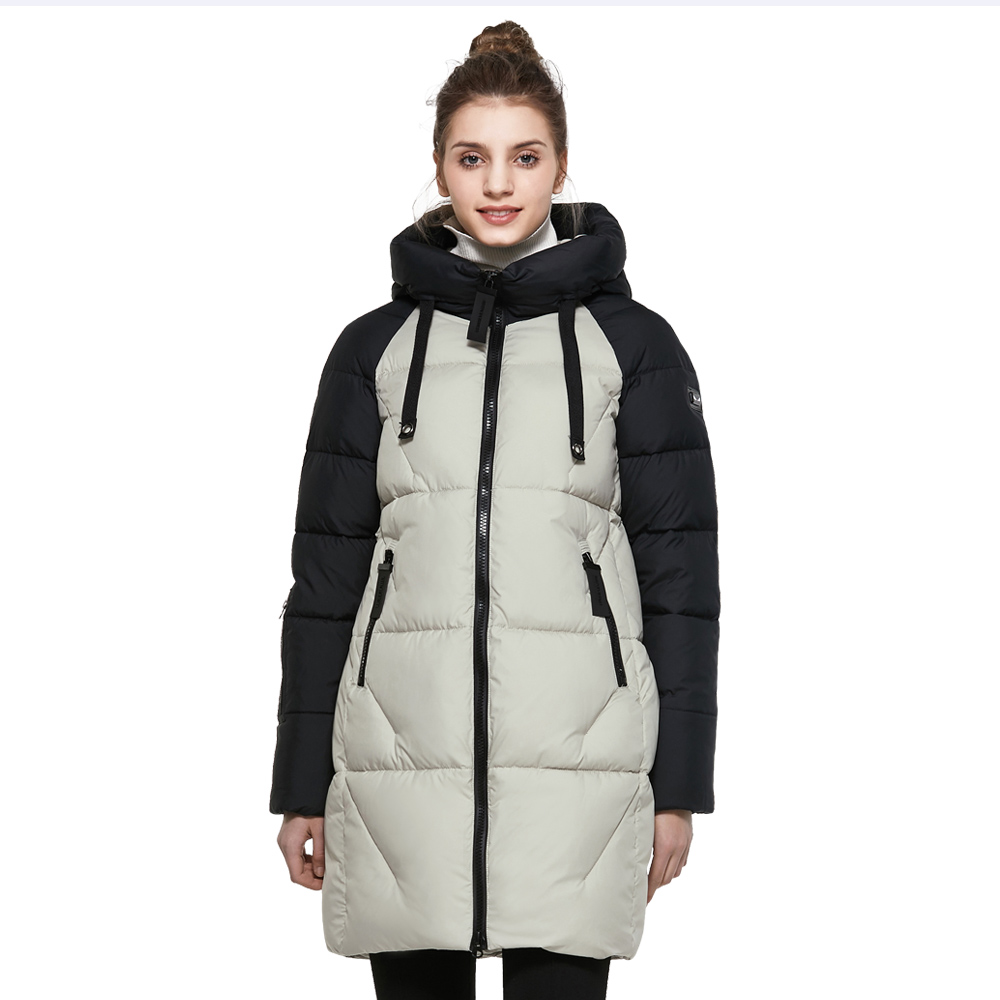 ICEbear 2017 Hot Sales High-quality Brand Apparel Windproof Thickened Warm Fashion Coat Winter Women Coat Long Jacket 17G637D
