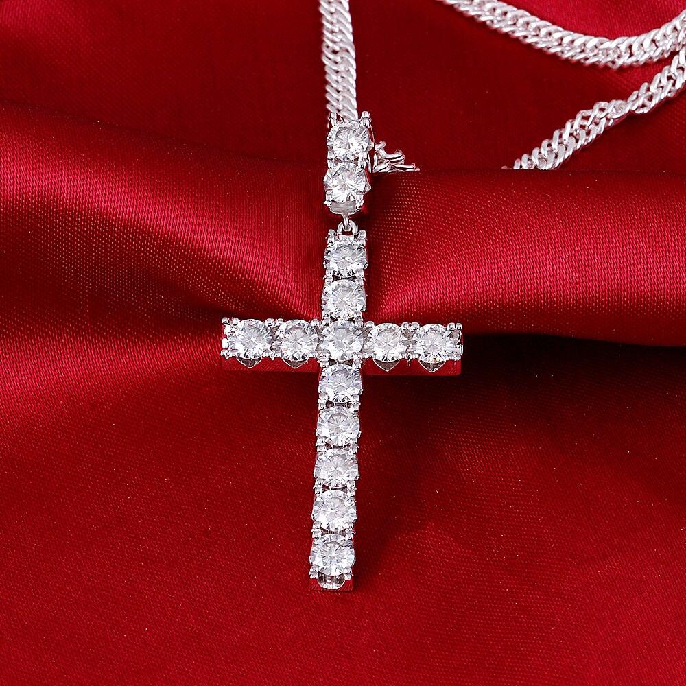 moissanite cross pendant necklace for man (3)