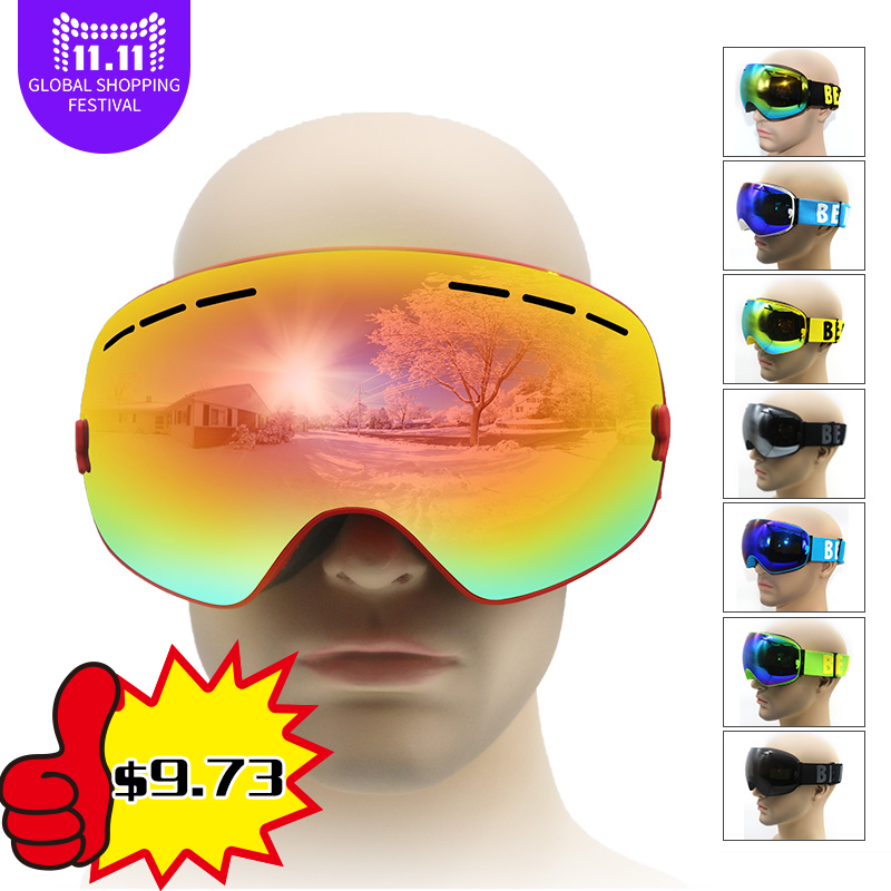 Lunettes de ski double UV400 anti-buée grand masque de ski lunettes de ski hommes femmes lunettes de neige lunettes de snowboard pour adulte
