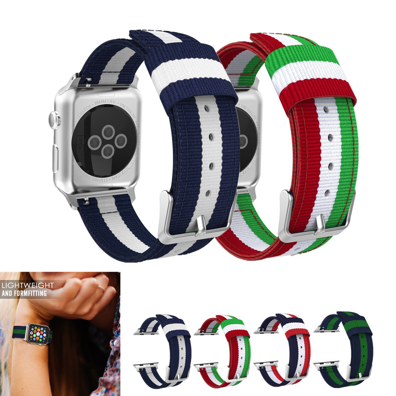 ASHEI Strap For Apple Watch Series 3 Band Fine Woven Nylon Adjustable Replacement Strap For iWatch 38mm 42mm series2 1 Wristband strap for apple watch 42mm fine woven nylon adjustable replacement sport band for apple watch 38mm series 1 series 2