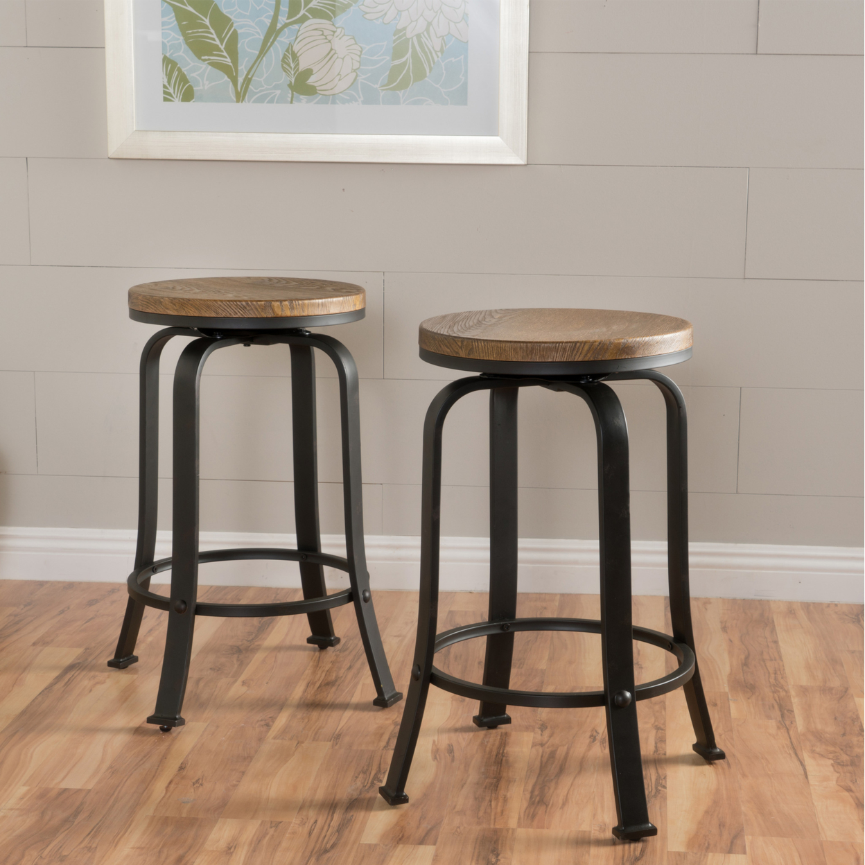 Arlington Natural Wood Rotating Counter Stool (Set of 2) seismic design of electronic counter punch rotating magnetic inductive proximity switches