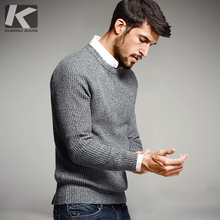 2017 New Youth Men Sweater Fashion solid  O-Neck Mens 100% Cotton Wool Pullover Men Sweaters 14012