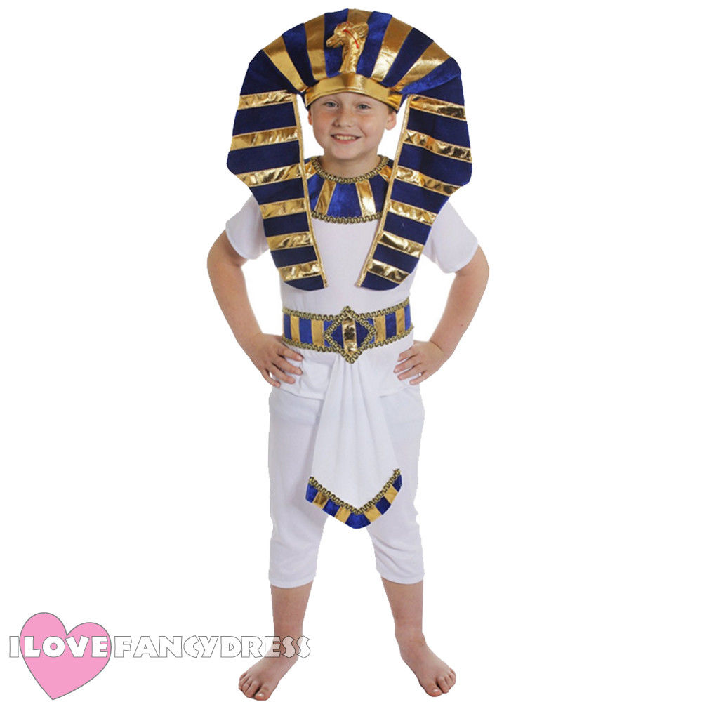 2018 NEW FAST SHIPPING EGYPTIAN BOY COSTUME PHARAOH PRINCE ANCIENT KING HISTORICAL SCHOOL BOOK WEEK FANCY DRESS FOR BOY FUN