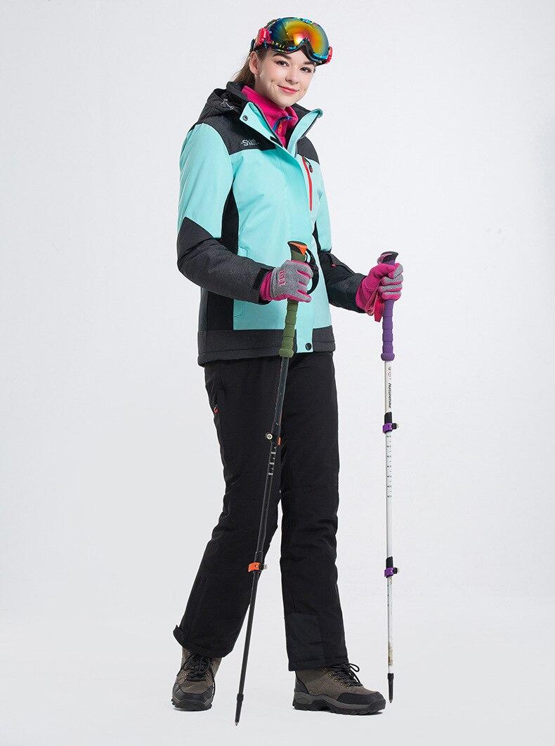 LANLAKA femmes Ski costume Ski Snowboard veste pantalon coupe-vent imperméable thermique en plein air Sport porter Super chaud vêtements pantalon