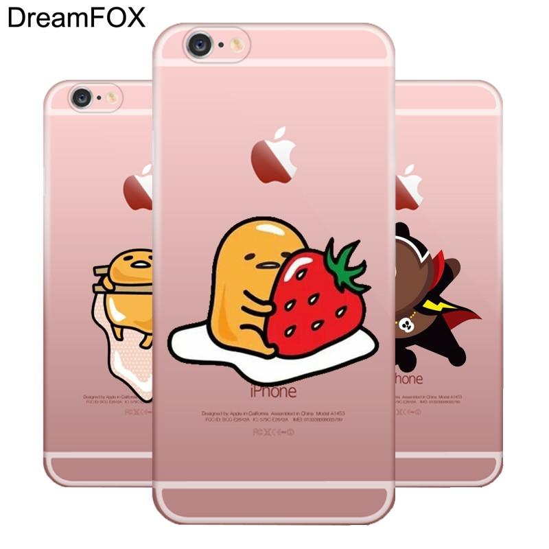 L028 Cute <font><b>Gudetama</b></font> Lazy Egg Soft TPU Silicone <font><b>Case</b></font> Cover For Apple <font><b>iPhone</b></font> X 8 7 6 6S Plus 5 5S SE 5C 4 4S
