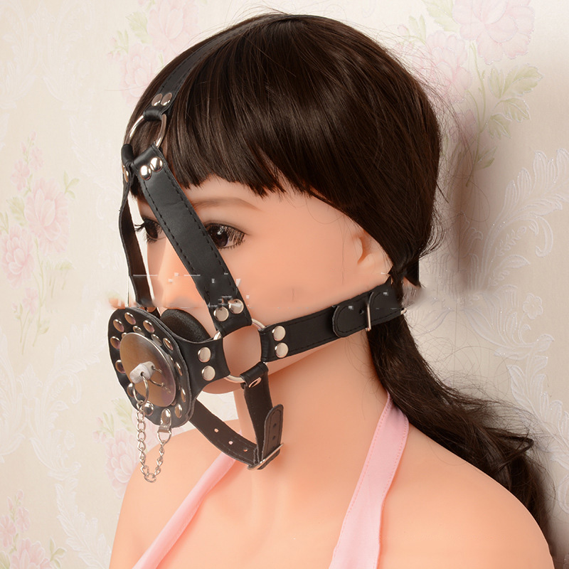 Chastity Locks Leather Open Mouth Gag Oral Mouth Butt Plug Fetish Slave Bdsm Bondage Harness Mask Hood Adult Sex Toys Men keyed black bondage harness leather belt open mouth gag cover mask slave bdsm restraints adult games fetish sex toys for woman