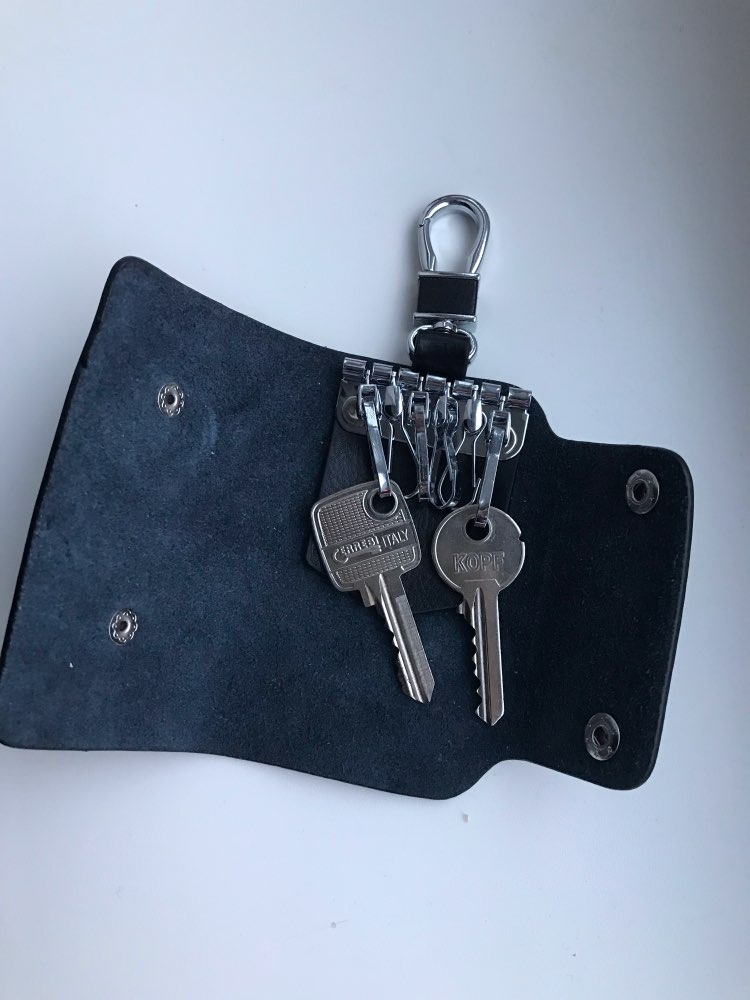 BLEVOLO Magnetic Hasp Key Case Bags Real Leather Key Wallets Men Key Holders Housekeeper Keys Organizer Women Keychain Covers photo review