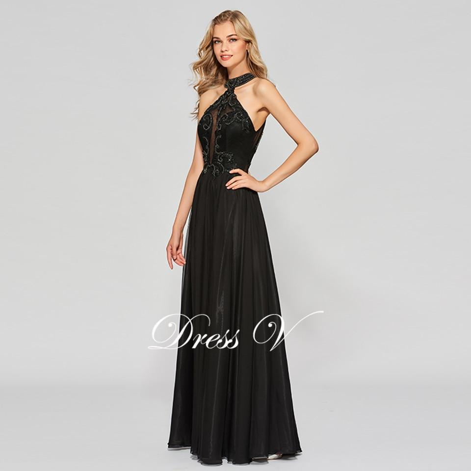 19a84af99bfc8 Dressv black elegant appliques long prom dress scoop neck floor length  backless evening party gown prom dresses customize