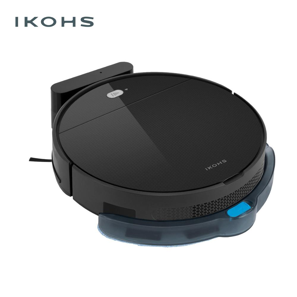 IKOHS NETBOT S12 Robot Smart Vacuum Cleaner Black Vacuum Cleaner Professional Home Mnando Remote Wireless Intelligent