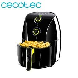 Cecotec Cecofry Compacte Snelle Black1.5L Olie Gratis Friteuse Gezonde Voedsel Programmeerbare in Tijd en Temperatuur Omvat Cookbook