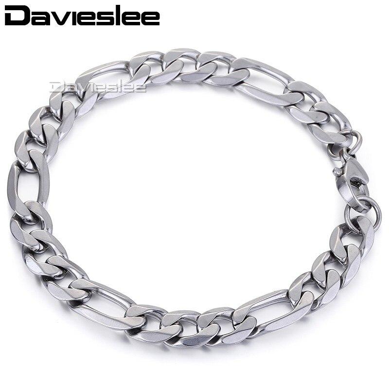 6/7/9mm Figaro Stainless Steel Bracelet Fashion Men