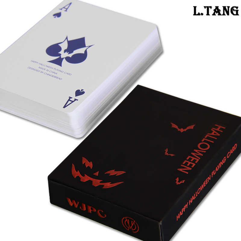699080e6843fb 1 колода игральных карт Пластик Черный покер карты Семья Дорожная игра  подарок для Для мужчин S536