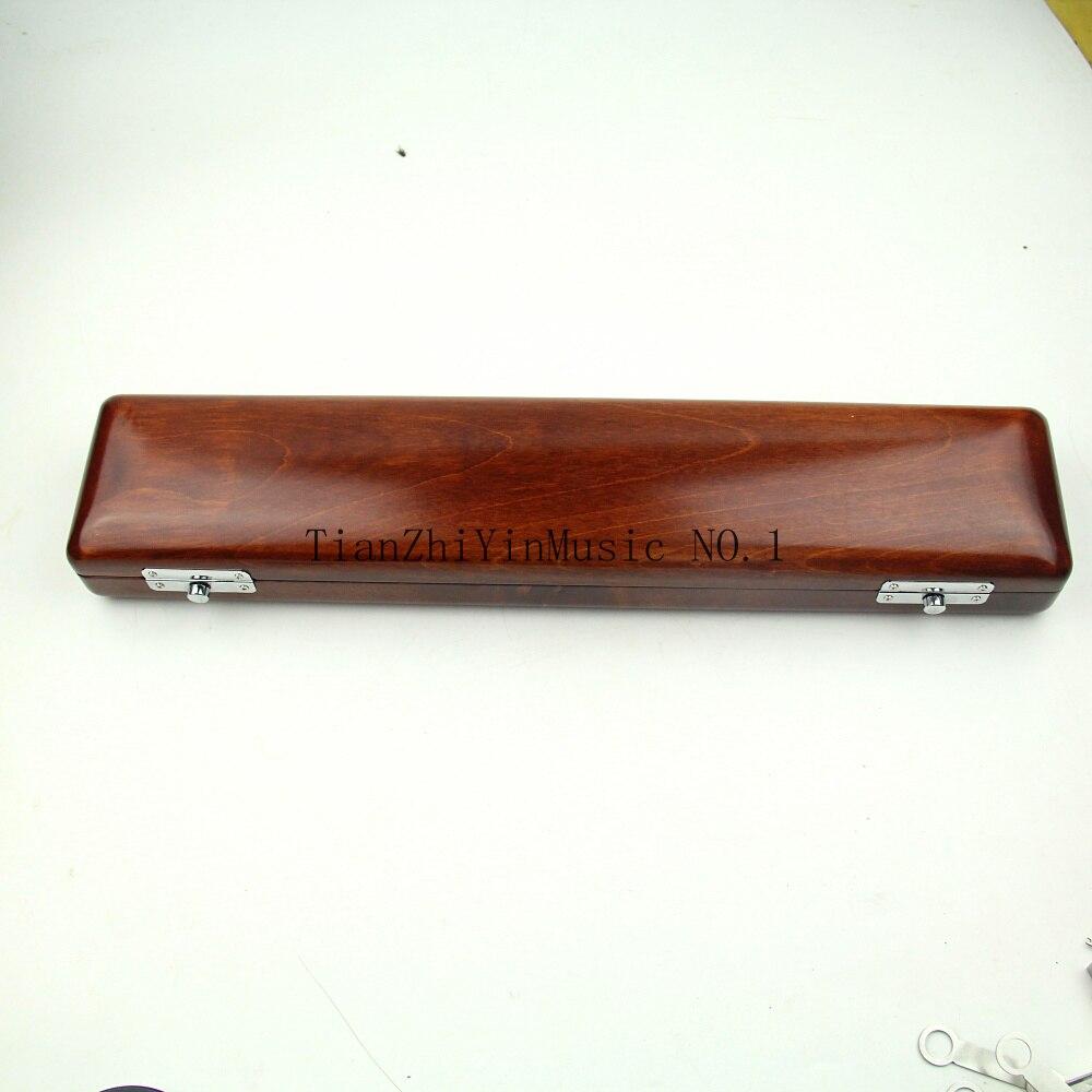 1 pcs Excellente 17 trous ouverts en bois flûte cas belle
