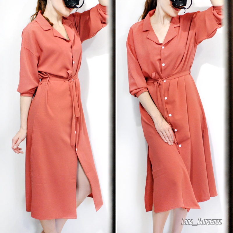 Flectit Business Chic Women Midi Shirt Dress With Bow Button Up Long Sleeve Spring Summer Dress Office Lady Outfit * photo review
