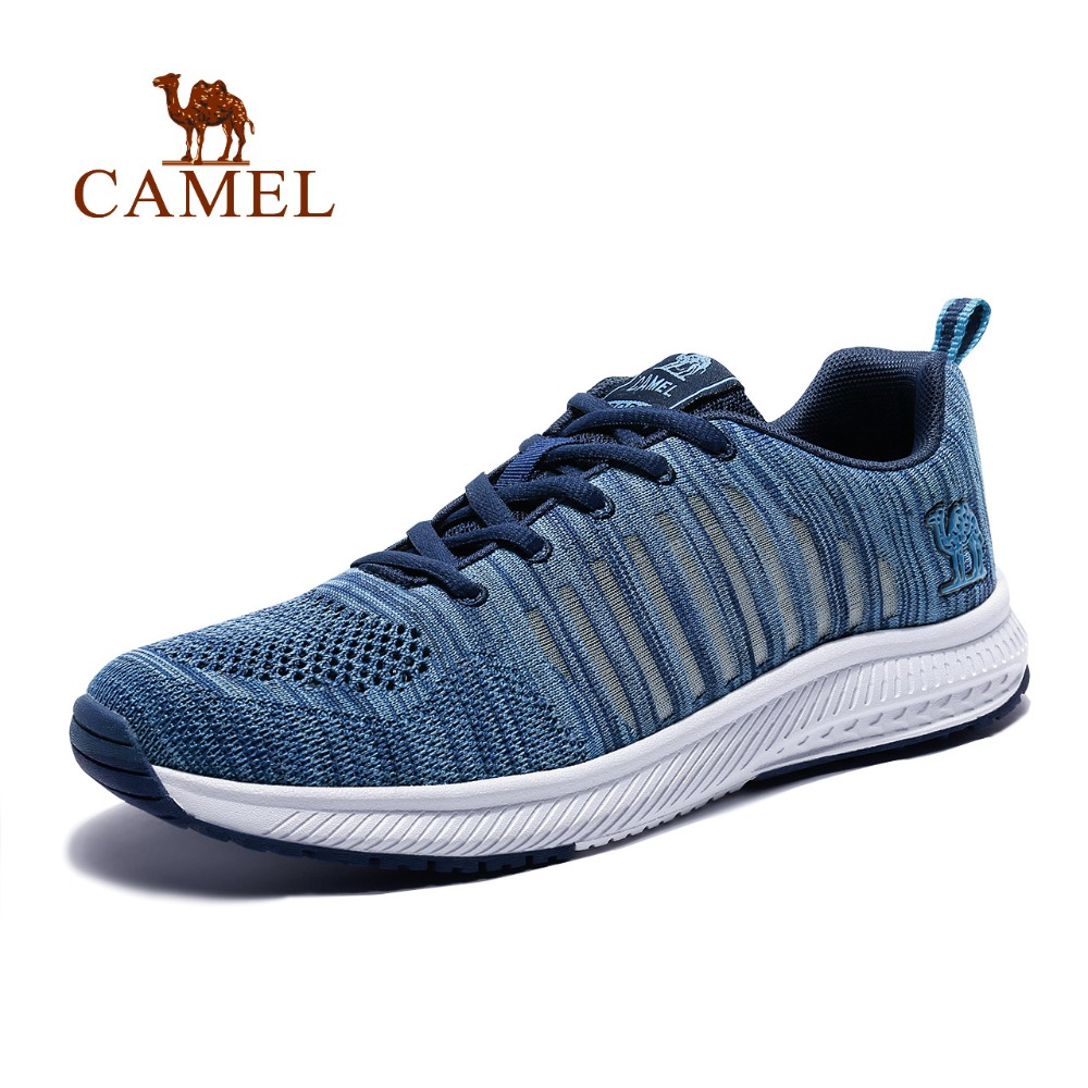 CAMEL Men's Breathable Mesh Lightweight Anti-slippery Comfortable Running Shoes Sports