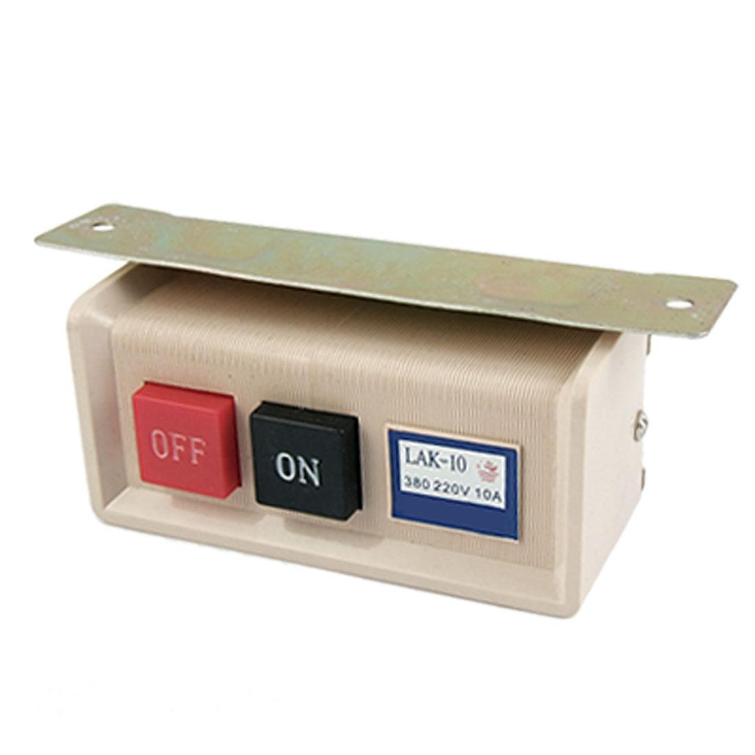 UXCELL Machine à coudre industrielle bouton poussoir interrupteur marche/arrêt idéal pour Machine à coudre AC 380 V 220 V 10A plastique métal offre spéciale