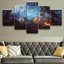Holiday Halloween 5 Panel Wall Art Home Decor Painting Canvas Printed Poster On Artwork Cuadros