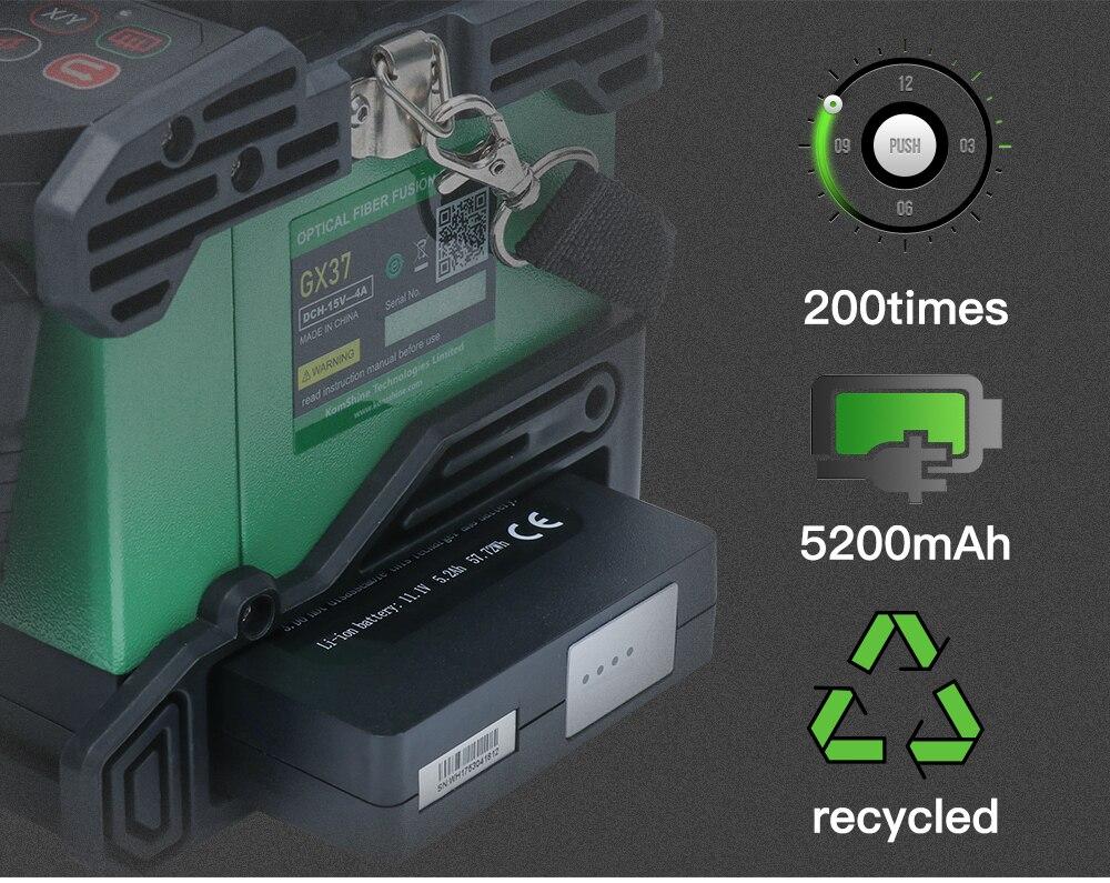 Image 5 - Komshine последняя модель GX37 слияние оптических волокон сварочный аппарат soudeuse de fiber optique с дополнительными электродами-in Оптоволоконное оборудование from Мобильные телефоны и телекоммуникации