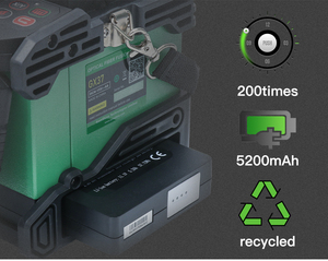 Image 5 - Komshine Nieuwste Model GX37 Optical Fiber Fusion Splicer lasser machine soudeuse de fiber optique met extra elektroden