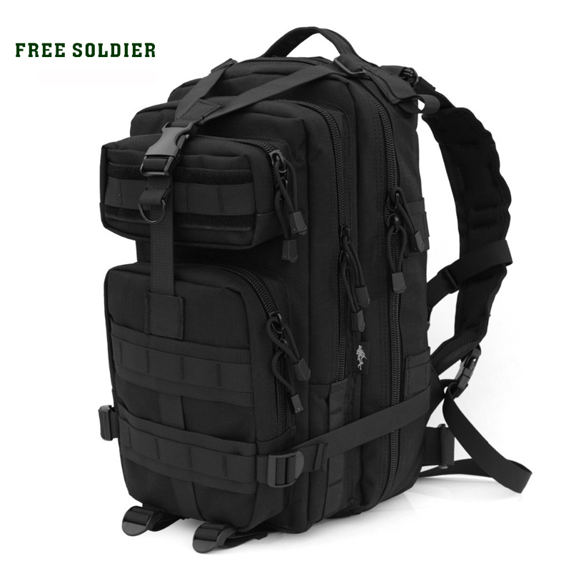 FREE SOLDIER Outdoor Sports Tactical Military Backpack With MOLLE For Hiking Camping Hunting 30L 45L sofirn c19 high power led flashlight 18650 self defense military tactical powerful flashlight 26650 torch light camping hunting