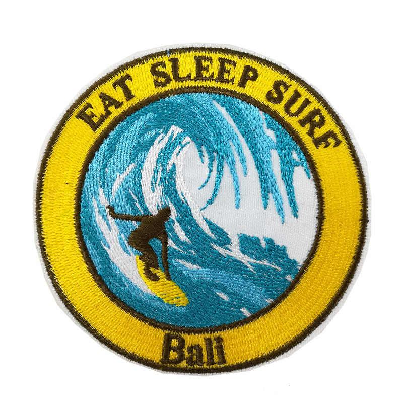 Essen Schlaf Surf Stickte Eisen Auf Patch Bali Surfen Indonesien reise souvenir