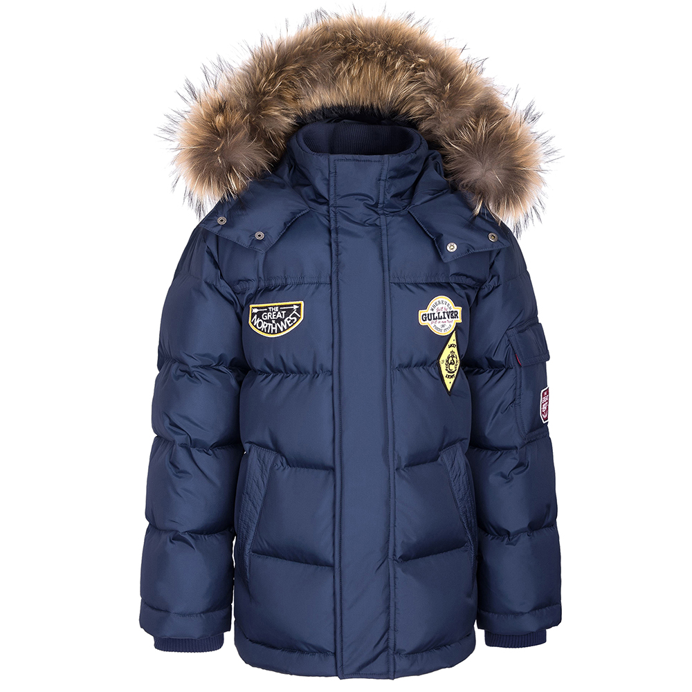 Jackets & Coats Gulliver for boys 21808BKC4103 Jacket Coat Denim Cardigan Warm Children clothes Kids biboymall winter coat 2017 military coats women cotton wadded hooded jacket casual parkas thickness plus size snow outwear