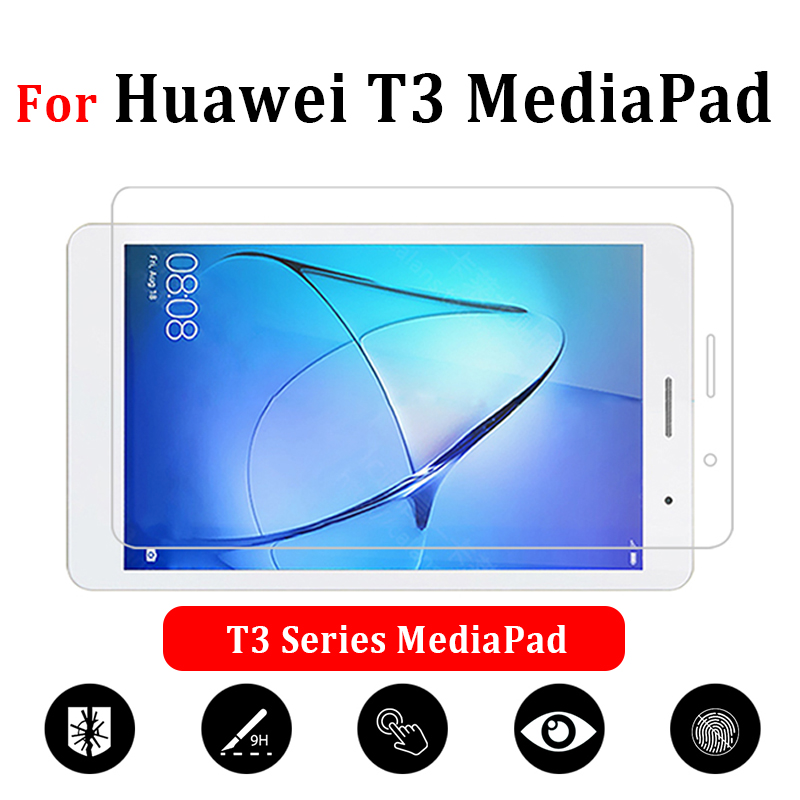 On The Tablet Glass For Huawei Mediapad T3 7 8 9.6 Inch T 3 3T Screen Protector 7.0 8.0 Huwei Tempered Protective Protect Glas