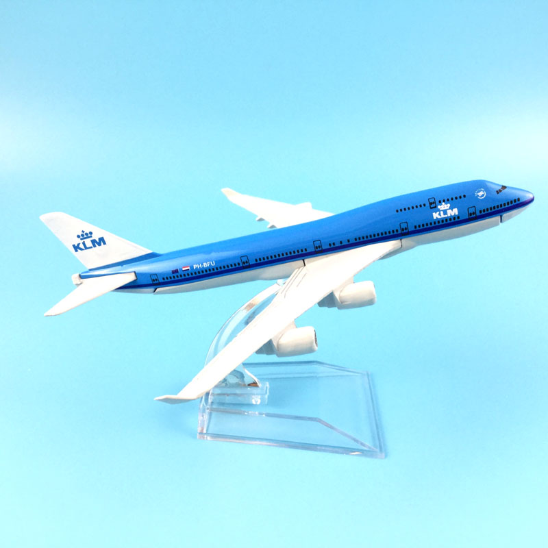 16CM AIR KLM PLANE 747 AIRCRAFT MODEL MODEL PLANE SIMULATION 16 ALLOY CHRISTMAS TOYS GIFT KIDS