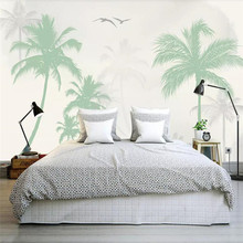 Romantic coconut tree seagull background wall professional production mural wholesale wallpaper mural custom photo wall romantic mediterranean style background wall professional production mural wholesale wallpaper mural poster photo wall