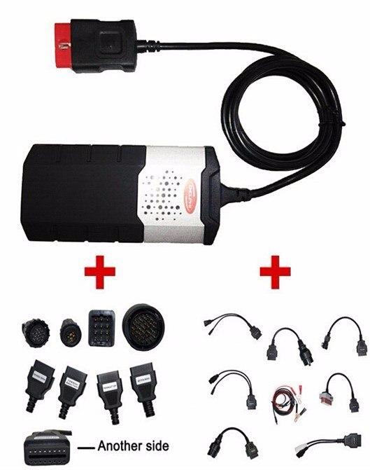 2017 Dernières OBDII SCANNER CDP Pro plus Pour Delphi ds150e Autocom Voiture outils de diagnostic Scanner avec set 16 câbles, livraison gratuite
