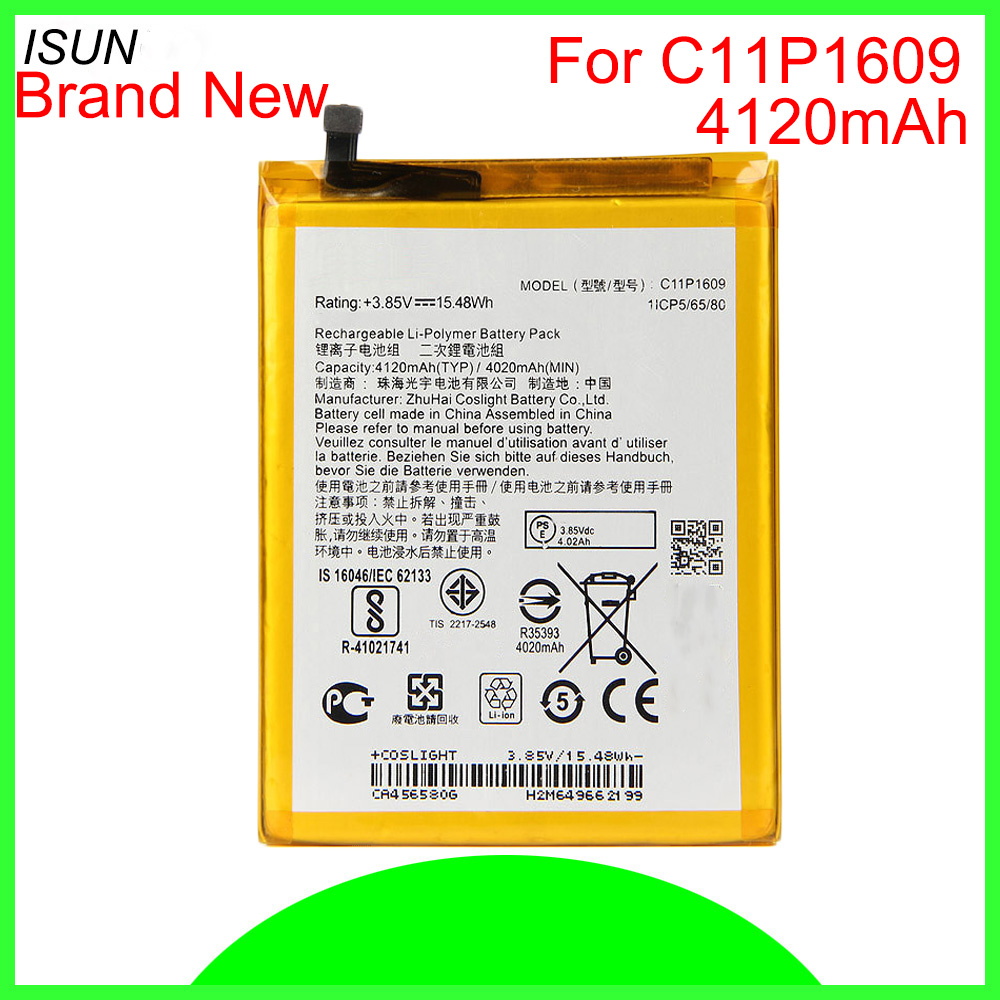 ISUNOO 4120mAh C11P1609 <font><b>Battery</b></font> For <font><b>ASUS</b></font> Zenfone3 max 5.5