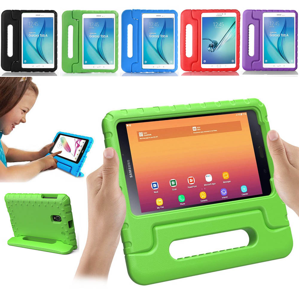 Kids Children Safe Rugged Proof Foam Case Handle Stand For Samsung Galaxy Tab A 8.0 SM-T380 T385 2017 Kid Shockproof Cover