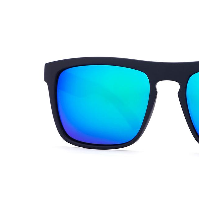 KDEAM Summer Sunglasses Men Sport Polarized Sun Glasses Women Mirror Green lens Square Frame UV400 With Original Case KD156