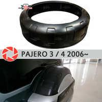 Ersatz rad box für Mitsubishi Pajero 3/4 2006 ~ auf auf die hintere tür schutzhülle ABS kunststoff dekoration auto styling tuning