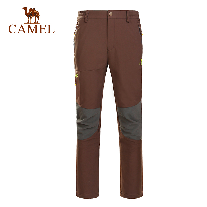 CAMEL Windproof Hiking Pants Men Sports Pants Quick Dry Breathable Outdoor Trousers Male Waterproof Mountain Trekking Pants outdoor softshell hiking pants men 5xl 6xl 7xl 8xl waterproof breathable bottoms male trekking sports large size trousers