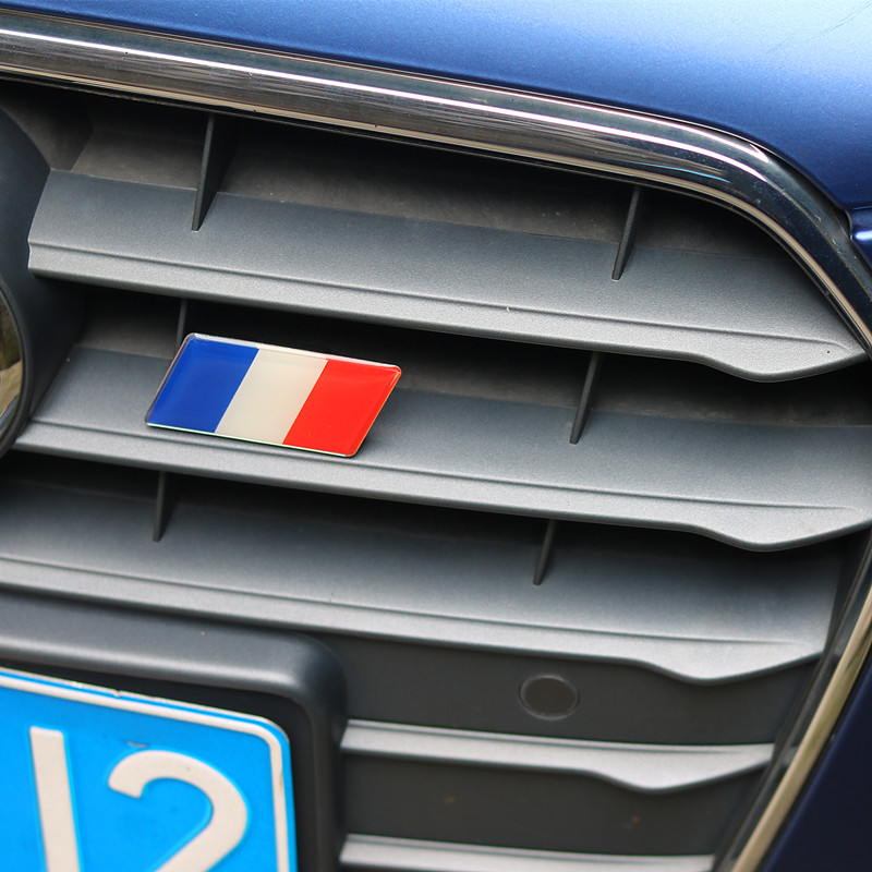 Car Styling France Flag Car Front Grill Emblem Sticker Grille Badge for Peugeot 207 301 307 308 408 508 3008 Citroen C4 C5 C2 DS фаркоп peugeot 307 308 2001 citroen c4 2004 без электрики