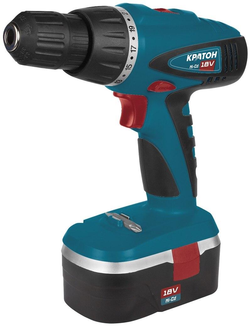 Drill-screwdriver rechargeable KRATON CDH-18-K cordless drill screwdriver kraton cd 14 k