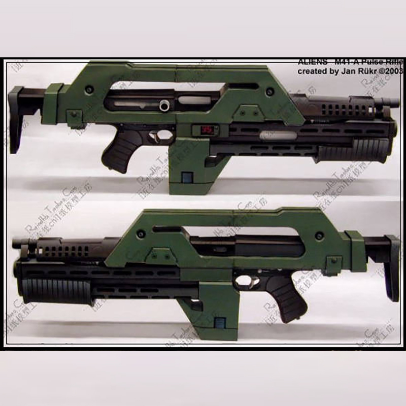 Toys & Hobbies DIY 3D Puzzle 1:1 Paper Gun Model Aliens M41 A Pulse Rifle Non finished Movie Alien 3 Heavy Armor Collection Gift