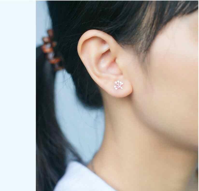100% 925 bijoux en argent Sterling femmes mode arbre boucles d'oreilles cadeau pour les filles enfants dame pendientes mujer moda 2018 EH649